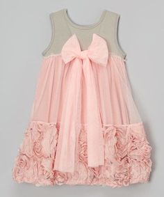 Another great find on #zulily! Gray Floral Dress - Infant, Toddler & Girls #zulilyfinds