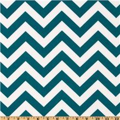 "Indoor/Outdoor ZigZag Blue Moon.  100% polyester, medium weight, 54"", $8.98 per yard.  Ottoman."