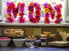 Create a waffle bar and floral monogram to celebrate Mom over brunch this mother's day.