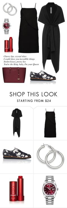 """Cherry."" by schenonek ❤ liked on Polyvore featuring BY. Bonnie Young, Boohoo, Zero + Maria Cornejo, Fresh, Rolex and MICHAEL Michael Kors"