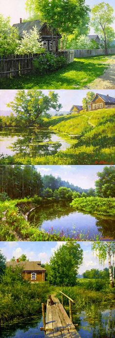 Russian Landscape Paintings By Dmitry Levin - Fine Art Blogger