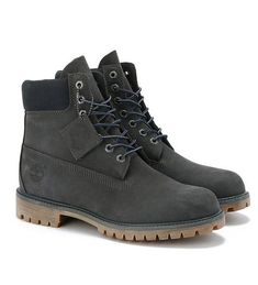 Timberland 6-inch Limited Release Premium Waterproof Boot - Dark Grey Nubuck Grey Timberland Boots, Timberland 6 Inch, Timberland Mens, Black Boots, Waterproof Hiking Boots, Comfortable Sneakers, Dark Grey, Vans