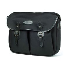 [Billingham] Hadley Large Black FibreNyte Black Leather Camera Shoulder Bag New