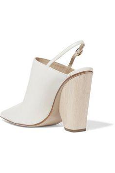 Paul Andrew - Imari Leather Slingback Pumps - White - IT39.5