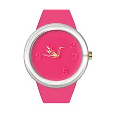 Origami inspired 0 DEGREE Watch Pink, $64
