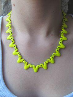 Funny Face Beauty: DIY: Neon Necklace Tutorial