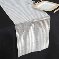 Silver DASHING Mirror Foil Table Runner Tulle Table Runner, Lace Table Runners, Disco Theme, Disco Party, Disco Ball, Funky Mirrors, Silver Wedding Decorations
