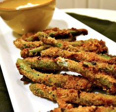 Baked Green Bean Fries - very good but doesnt make a huge batch... Suggest doubling the recipe for two people. Awesome though they came out PERFECT