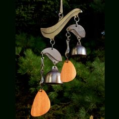 My first bells were wind bells and, for me, they continue to offer an inspiring connection with nature. -Richard Fisher A note about wind. Moving To Maine, Ring My Bell, Phoenix Homes, Small Doors, Wind Spinners, Metal Projects, Large Plants, Blacksmithing, Metal Art