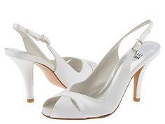 Stuart Weitzman Bridal & Evening Collection Cachet White Satin - 6pm.com