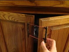 Lazy Susan Child Lock Beauteous Use A Cable Tie To Baby Proof Your High Cabinet Doors Inspiration Design