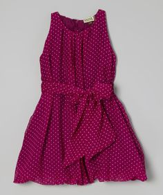 This Atelier by Sophie Catalou Fuchsia Pin Dot Bubble Dress - Toddler & Girls by Atelier by Sophie Catalou is perfect! #zulilyfinds