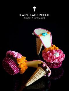 Bake Inspiration: [ 20 gambar ] Cakes and cupcakes are a .- Inspirasi Bake : [ 20 gambar ] Kek dan cupcakes kasut yang amat sesuai dijadikan… Bake Inspiration: photos] Cake and cake cupcakes are perfect for a wedding! High Heel Cupcakes, Shoe Cupcakes, Stiletto Cupcakes, Ice Cream Shoes, Cupcake Cones, Food Crafts, Mini Cakes, Cakes And More, Party Cakes