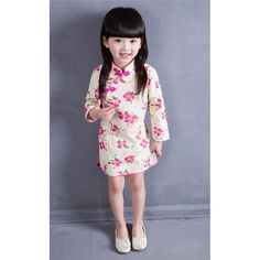 >> Click to Buy << Christmas Dress New 2016 Baby Girls Chinese Traditional Dress Spring And Autuam Kids Cheongsam Clothing Style Printing Classic  #Affiliate