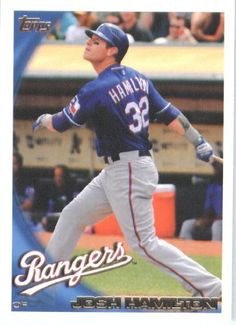 2010 Topps Baseball Card #175 Josh Hamilton Texas Rangers - Mint Condition - Shipped In Protective ScrewDown Display Case! by Topps. $4.95. 2010 Topps Baseball Card #175 Josh Hamilton Texas Rangers - Mint Condition - Shipped In Protective ScrewDown Display Case!