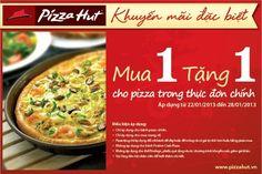 Chương trình khuyến mãi mua 1 tặng 1 của Pizza Hut | Ghiền Ăn - Khuyến mãi ẩm thực | ghienkhuyenmai