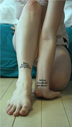 let no foot mark your ground, let no hand hold you down. #pairtattoos