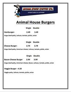 8 Best 2013 14 Menu Animal House Cafes at RCC images