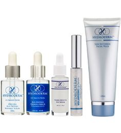 Hydroderm Skin Care Products - using the Tripple Effect Eye serum and the anti-aging Wrinkle serum together on your face will greatly reduce wrinkles etc. Dr Oz - 2 key ingred. 1. Acetyl Hexapeptide 8 relaxes facial tension and reduces wrinkle depth 2. Collagen IV Synthesis promotes collagen production and firms skin.