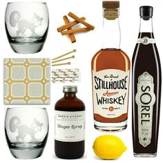 Whiskey Cocktail Kit with Ginger and Cinnamon