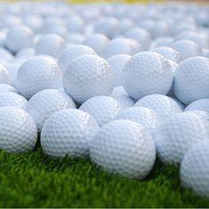 2Pcs Golf Balls Beginners Practice Driving Range Training Double Layer Ball Rubber