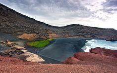 Lago Verde, Lanzarote. Las 7 playas negras más espectaculares del Mundo