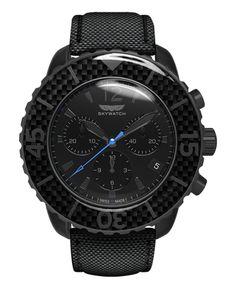 cbee7e56264 Carbon Fiber   Black Chronograph Vestidinhos Pretos