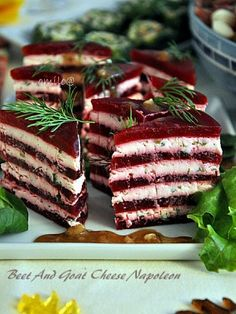 Beet And Goat Cheese, Sandwich Cake, Christmas Party Food, Russian Recipes, Beets, Finger Foods, Diet Recipes, Catering, Food And Drink