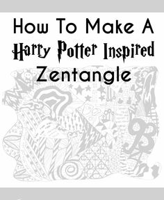 Recently, a friend of mine introduced me to a unique way of doodling. Have you heard of Zentangles® ? It's a remarkably fun yet com. Harry Potter Blog, Harry Potter Props, Harry Potter Classroom, Harry Potter Fandom, Harry Potter Characters, Harry Potter Activities, Face Doodles, Colouring Pages, Coloring