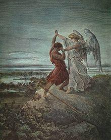 Jacob vecht met een Engel 1885