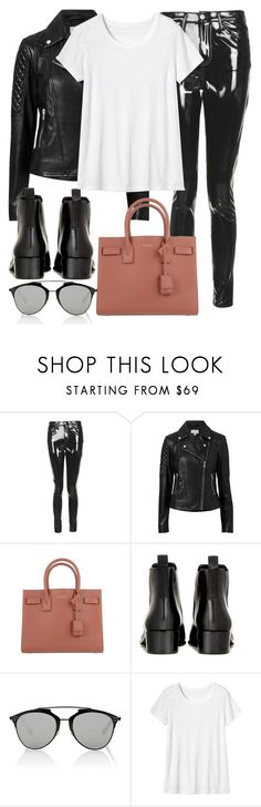 """Untitled #3027"" by elenaday ❤ liked on Polyvore featuring Topshop, Witchery, Yves Saint Laurent, Acne Studios, Christian Dior and Toast"