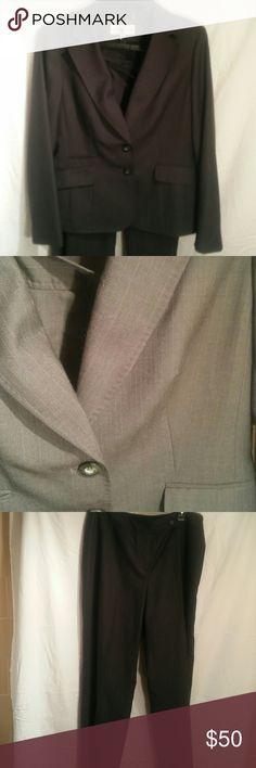 Jones New York Two Piece Suit Slate gray with very fine light grey pinstriing Jones New York Other