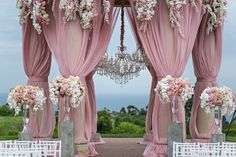Pelican Hill Pink Blush Wedding Ceremony | Design & Planning: A Good Affair Wedding & Event Production | Photographer: Jessica Claire