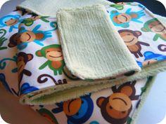 Easy Baby Blanket and Burp Cloth - Tori Grant Designs