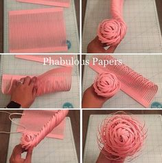 Here's a step by step on how to make a paper flower center. This paper flowe… Here's a step by step on how to make a paper flower center. This paper flower community is a great support system, I've learned so much and… Paper Flowers Craft, Crepe Paper Flowers, Paper Flower Backdrop, Flower Crafts, Giant Paper Flowers, Felt Flowers, Diy Flowers, Fabric Flowers, Bride Flowers
