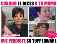 Meme okchicas cuando le dices a tu mamá que perdiste el tupperware