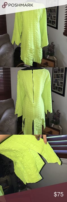 Lime Green Tunic Lime Green Long Sleeve Tunic connie k Tops Tunics