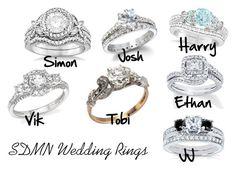 SDMN Wedding Rings by dearbhla-doherty on Polyvore featuring Allurez, Bloomingdale's, Kobelli, wedding, weddingring, sidemen and SDMN