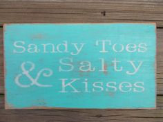 For the beach house.  Distressed Sandy toes sign