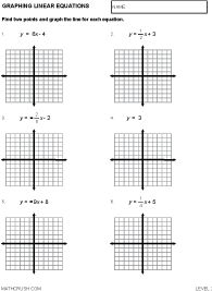 Eighth Grade Function Tables Worksheet 10 One Page