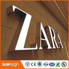 illuminated signs type led sign letters