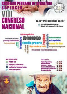 VIII Congreso Nacional de la Sociedad Peruana de Geriatría(SOPERGER) | Central Informativa del Adulto Mayor