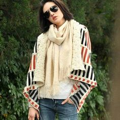 Wool-Blend Shawl Collar Striped Knit Jacket from #YesStyle <3 SO Central YesStyle.com