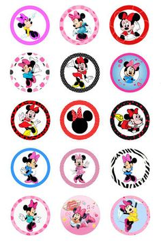 DISNEY MINNIE MOUSE BOTTLECAP IMAGES (NEW)