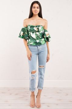 MALDIVES OFF SHOULDER TOP