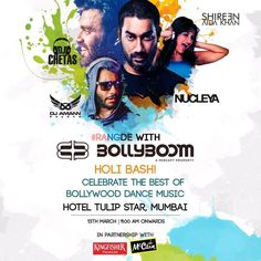 Bollyboom, the world's first and biggest Bollywood electro-music festival is gearing up for its second edition as they kick off with The worlds largest Bollyboom Dance Music Holi Party.  A 7 hour non-stop scintillating celebration of India's much loved festival of color with Nucleya, Dj Chetas, Dj Aman