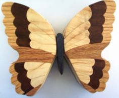 Wood Butterfly Intarsia Box | WoodAPlenty - Woodworking on ArtFire