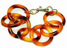 Lindsay Colbus faux tortoise shell chain link bracelet