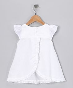 White Linen Butterfly Swing Top - sewing inspiration by Addie & Ella