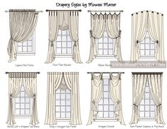 Layered Rod Pocket Style of hanging the velvet blue curtains, 1 panel each window. A rod will hold a sheer to provide some privacy and diffuse outdoor light. Drapery Styles, Drapery Designs, Curtain Styles, Drapery Ideas, Curtain Ideas, Home Curtains, Curtains Living, Interior Design Software, Home Interior Design